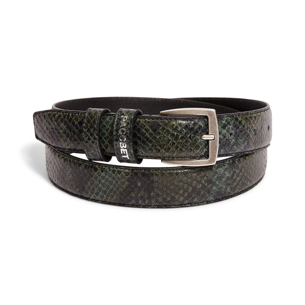 RASSVET Fake Sneak Skin Belt Green