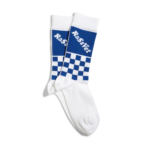 RASSVET Two Tone Jaquard Socks White