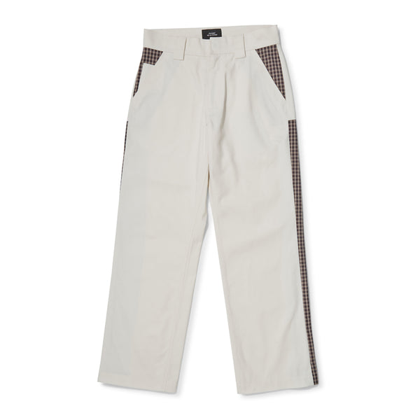 RASSVET Checkered Pants - Off White / Beige
