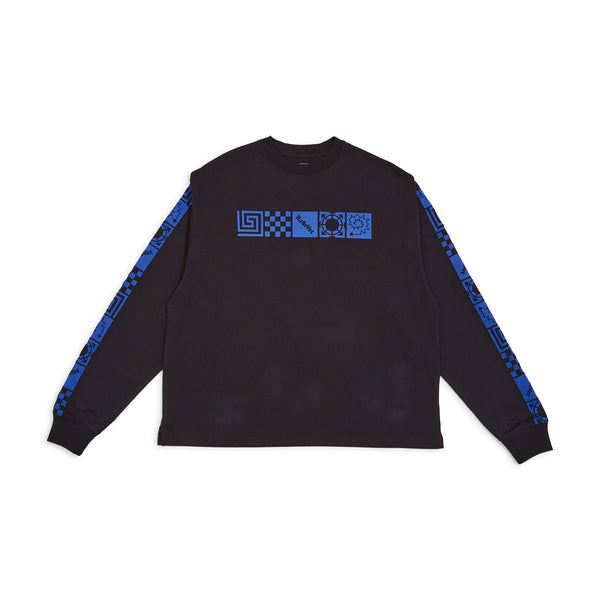 RASSVET Long Sleeved Printed Design Black