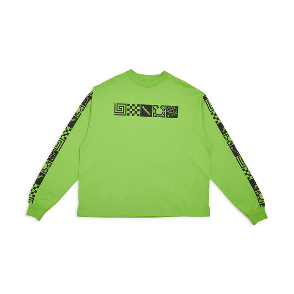 RASSVET Long Sleeved Printed Design Light Green