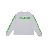 RASSVET Long Sleeved Printed Design White