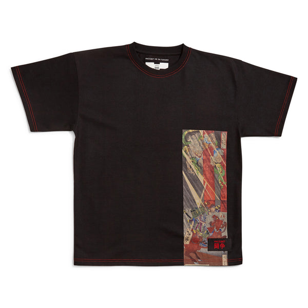 RASSVET T-Shirt Placed Art Print Black