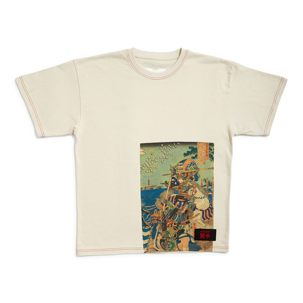 RASSVET T-Shirt Placed Art Print Beige