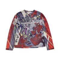 RASSVET Long Sleeved All Over Art Print Black
