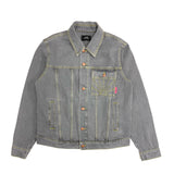 RASSVET / PACC8J005-3 / MEN'S DENIM LONG JACKET - LIGHT GREY