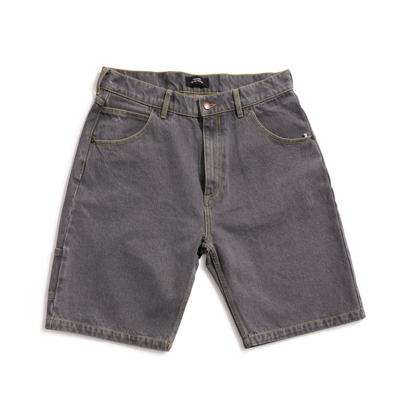 RASSVET / PACC8P007-3 / MEN'S DENIM BAGGY SHORT PANTS - LIGHT GREY