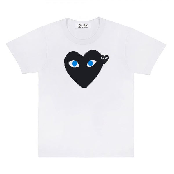Play Comme des Garçons Blue Eyes T-Shirt - White / Black Heart