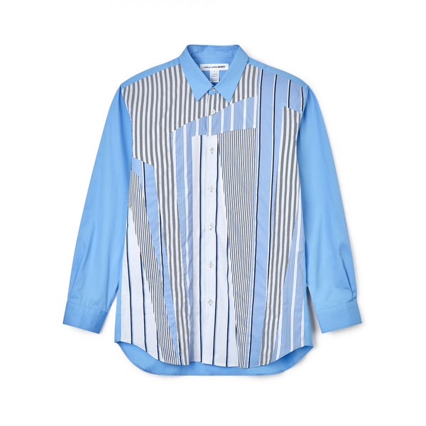 CDG SHIRT Patchwork Longsleeve Shirt / Striped