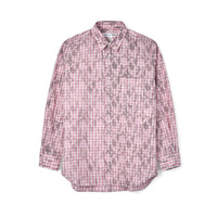 CDG SHIRT Printed Longsleeve Shirt / Checkered