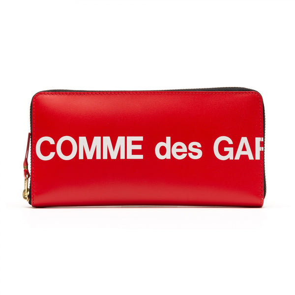 CDG Huge Logo Wallet - Red / SA0110HL