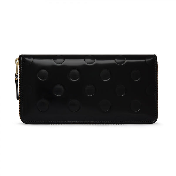 CDG Polka Dots Embossed Wallet - Black / SA0110NE