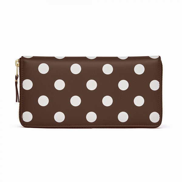 CDG Polka Dot Wallet - Brown / SA0110PD