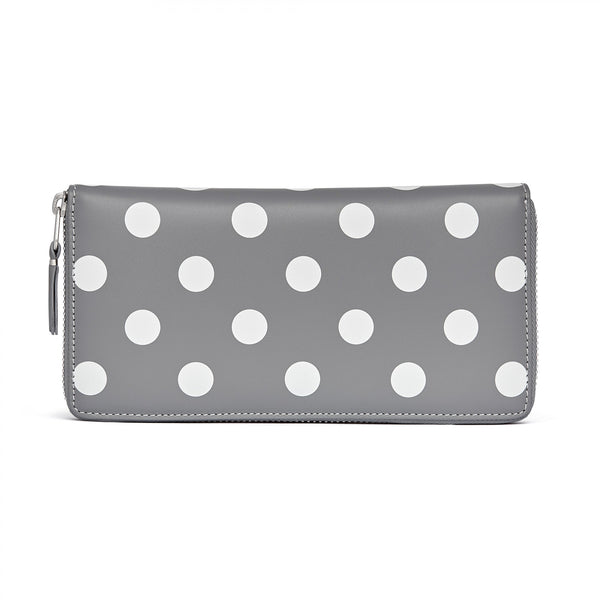 CDG Polka Dot Wallet - Grey / SA0110PD