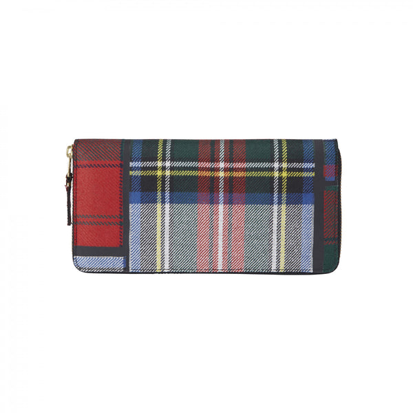 CDG Tartan Patchwork Wallet - Red / SA0110TP