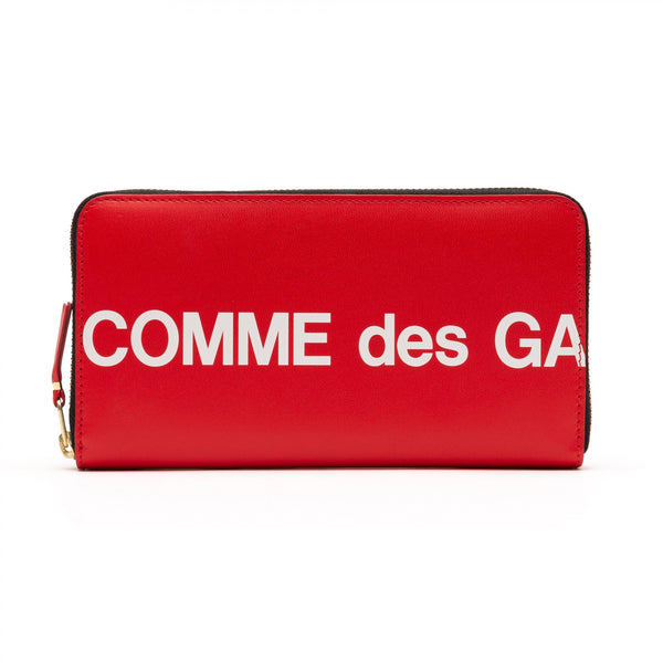 CDG Huge Logo Wallet - Red / SA0111HL