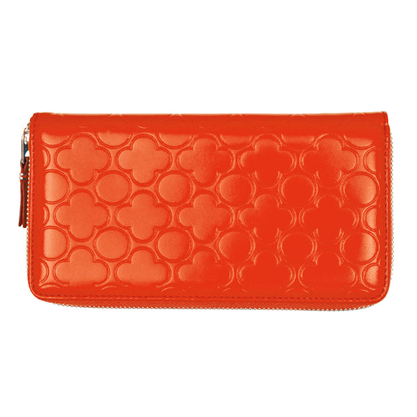 CDG Colour Embossed B Wallet - Orange / SA011EB