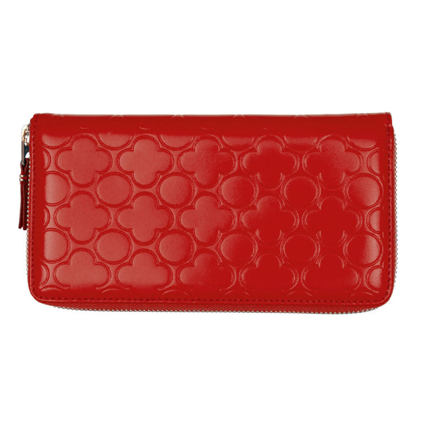 CDG Colour Embossed B Wallet - Red / SA011EB
