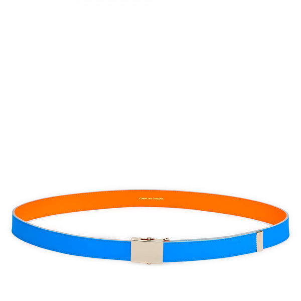CDG Super Fluo Belt - Blue/Orange / SA0910SF