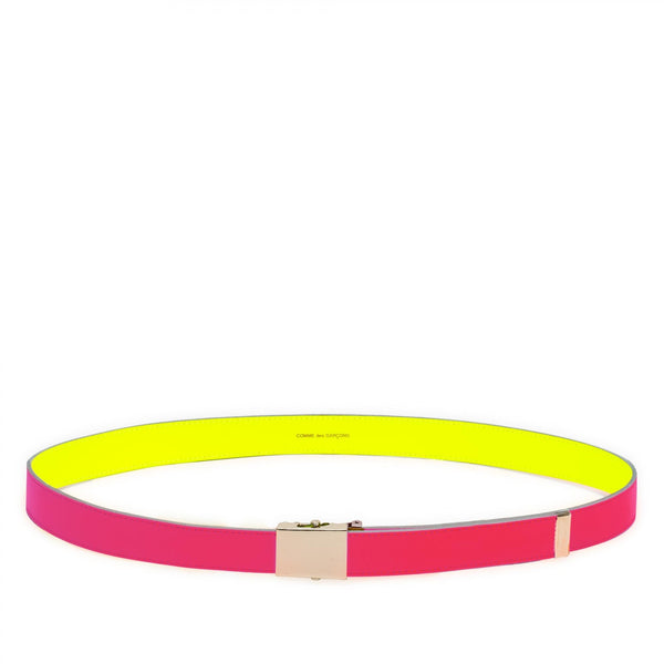 CDG Super Fluo Belt - Pink/Yellow / SA0910SF