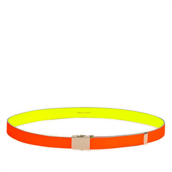 CDG Super Fluo Belt - Yellow/Orange / SA0910SF