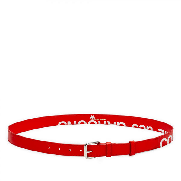 CDG Huge Logo Belt - Red / SA0911HL