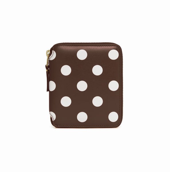CDG Polka Dot Wallet - Brown / SA2100PD