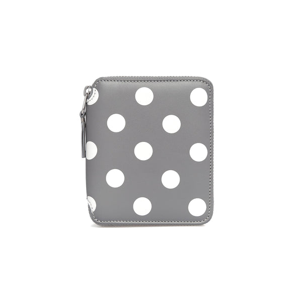 CDG Polka Dot Wallet - Grey / SA2100PD