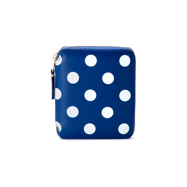 CDG Polka Dot Wallet - Blue / SA2100PD