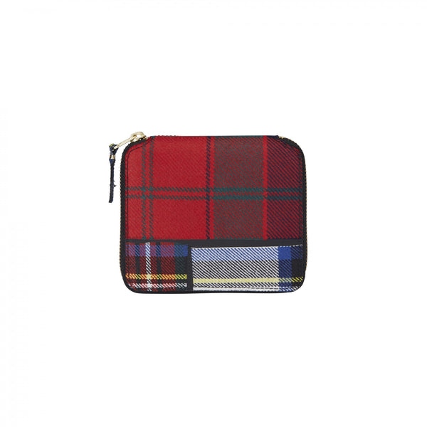 CDG Tartan Patchwork Wallet - Red / SA2100TP