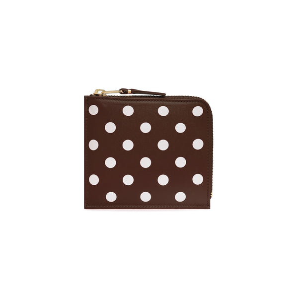 CDG Polka Dot Wallet - Brown / SA3100PD