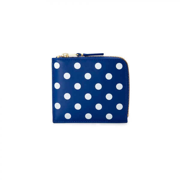 CDG Polka Dot Wallet - Blue / SA3100PD