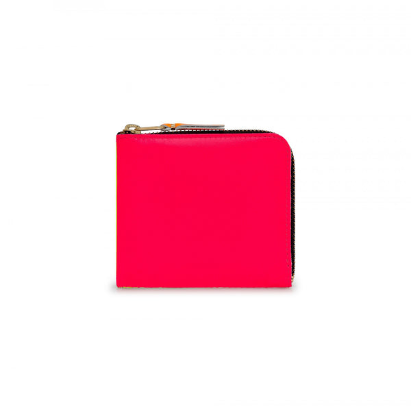 CDG Super Fluo Wallet - Pink/Yellow / SA3100SF