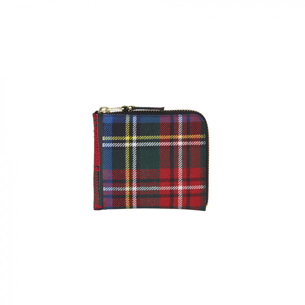 CDG Tartan Patchwork Wallet - Red / SA3100TP