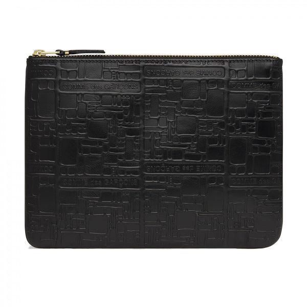 CDG Embossed Logotype Wallet - Black / SA5100EL