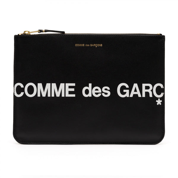 CDG Huge Logo Wallet - Black / SA5100HL
