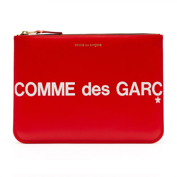 CDG Huge Logo Wallet - Red / SA5100HL