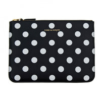 CDG Polka Dot Wallet - Black / SA5100PD