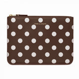 CDG Polka Dot Wallet - Brown / SA5100PD
