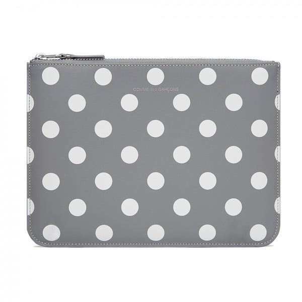 CDG Polka Dot Wallet - Grey / SA5100PD