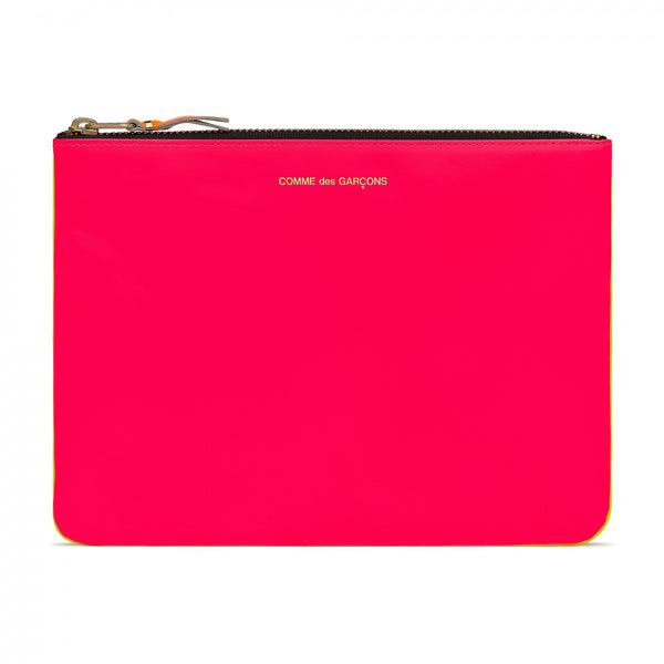 CDG Super Fluo Wallet - Pink/Yellow / SA5100SF