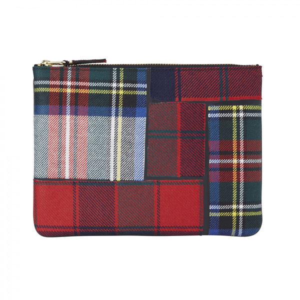 CDG Tartan Patchwork Wallet - Red / SA5100TP