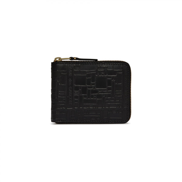 CDG Embossed Logotype Wallet - Black / SA7100EL