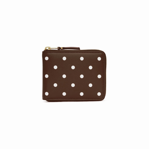CDG Polka Dot Wallet - Brown / SA7100PD