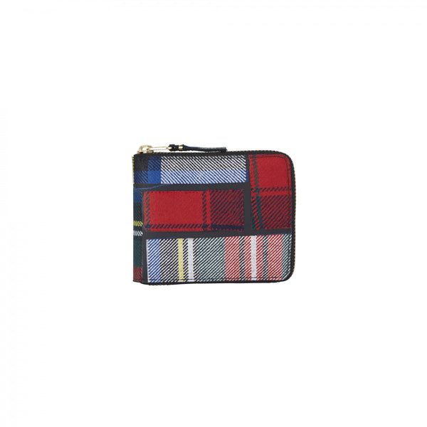 CDG Tartan Patchwork Wallet - Red / SA7100TP