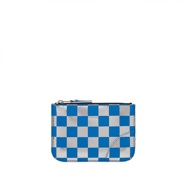CDG Optical Check Wallet - Blue / SA8100GB