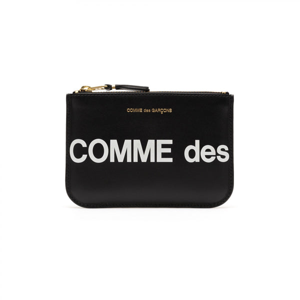 CDG Huge Logo Wallet - Black / SA8100HL