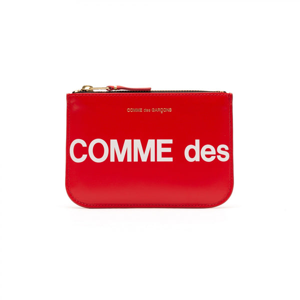 CDG Huge Logo Wallet - Red / SA8100HL