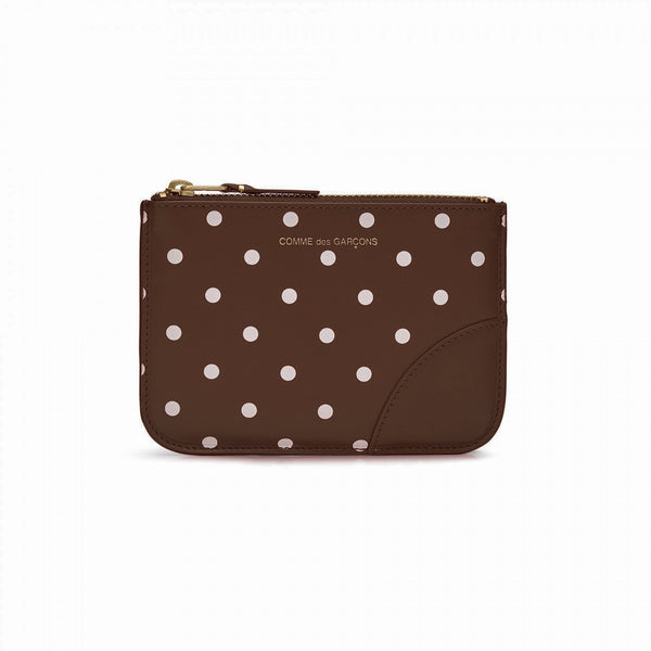 CDG Polka Dot Wallet - Brown / SA8100PD