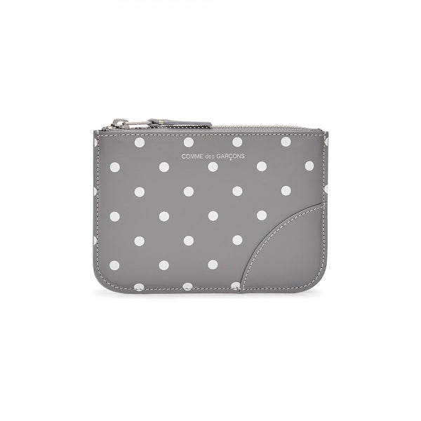 CDG Polka Dot Wallet - Grey / SA8100PD